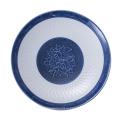 Синий и белый меламин посуда/меламина круглая пластина (13827-10)