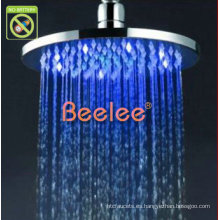 """Cabezal de ducha con tapa LED redonda de lluvia de latón de 8 """""""