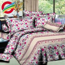 cama moderna impresa de tela 100% algodón para juegos de sábanas