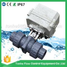 "Dn20 3/4 ""2 vias 12V 24V plástico válvula de esfera motorizada elétrica PVC"