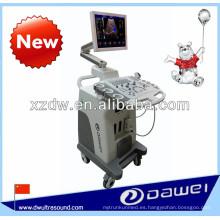 Escáner en color Doppler 2D y trolley en color con software 3D
