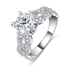 Anneaux de fiançailles de mariage de 1,5 carats de zircone (CRI0502-B)
