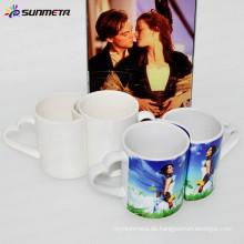 Sunmeta Fabrik liefern 11oz Paar Tassen für Sublimation, Sublimation Tassen