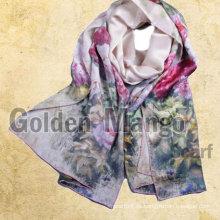 Bufandas de seda de la impresión digital de la manera del 100%