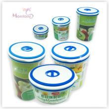 Boîte à lunch ronde de nourriture, récipient de nourriture en plastique de Fresh-Keeping