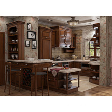 North America Modern Classic Solid Wood Kitchen Cabinet