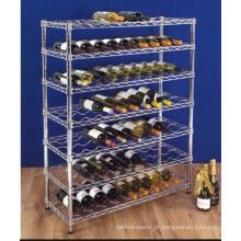Floor Model Metal Vinho Tinto Armazenamento Rack para Adega Aprovação NSF (WR9035180A7C)