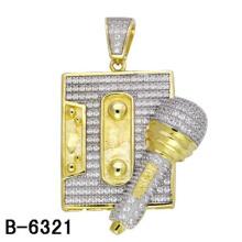 Dernière conception pendentif en argent sterling 925 bijoux avec diamant