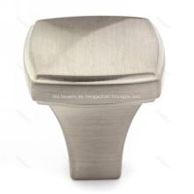 Cepillo manijas de cajón de gabinete de cocina de aleación de zinc y níquel