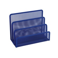 Dark Blue Metal Mesh File Shelf