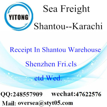Shantou Port LCL Consolidation To Karachi