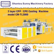 Triple-screw 3 Layers CPP Casting Film Machine model CM-TL3000