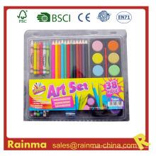 Школа канцелярских принадлежностей для набора цветной живописи