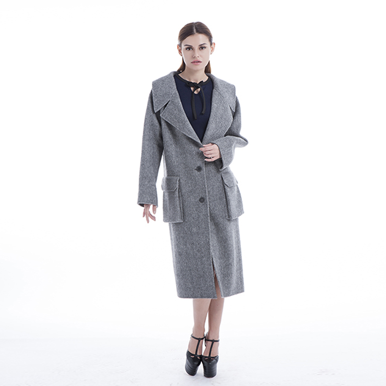 New Model Grey Cashmere Overcoat