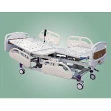 Cama de hospital elétrica de cinco funções com cabeça de cama ABS