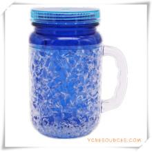 Doppelwand Frosty Mug Frozen Ice Bierkrug für Werbegeschenke (HA09072-1)