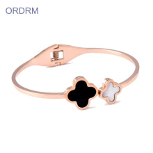 Damen Thin Rose Gold 4 Kleeblatt Armband