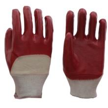 Китайская фабрика труда Профессиональные полузакрытые ПВХ красные / синие перчатки