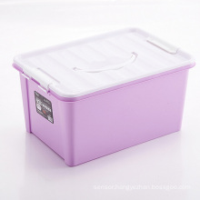 Colorful Plastic Storage Container Box with Handle (SLSN012)