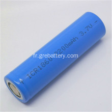 Batteries rechargeables au lithium 18650 3,7 v 2200mAh
