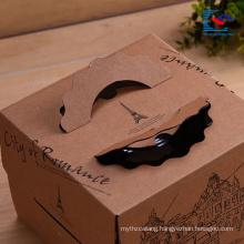 customized logo kraft paper cake food packaging box