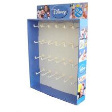 Venta al por menor de artículos ligeros de ganchos de cartón de pantalla, pantalla de cartón Sidekick, soporte de cartón colgante