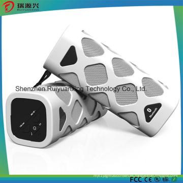 Altavoz Bluetooth portátil con micrófono incorporado (blanco)