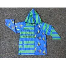 Veste imprimée imperméable imprimée en PVC pour garçons scolaires