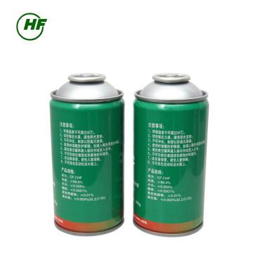 L'utilisation de la voiture de la Chine 300g peut emballer l'utilisation de HFC-R134a pour la voiture Non remplissable Cylindre 800g l'humidité 0.01% pour l'Indonésie