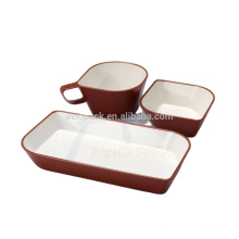 Durable airline plastic rotables two color tableware set
