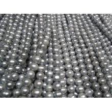 Grey Potato / Nearly Round Freshwater Pearls Strands (ES377)
