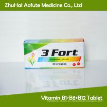 Vitamina B1 + B6 + Tableta B12
