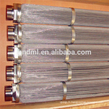 OEM, cartouche filtrante de fonte frittée d'acier inoxydable, élément filtrant de fonte pour l'industrie en nylon
