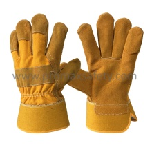 Gant de travail en cuir Split Split Yellow Yellow