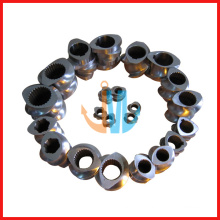 Segment screw and barrel/parallel double screw and barrel(double screw barrel for plastic pelletizing)