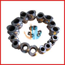 Segmentschnecke und Zylinder/parallele Doppelschnecke und Zylinder (Doppelschneckenzylinder für die Kunststoffgranulierung)