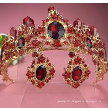Dubai Tiara Crystal Crown Beauty Queen Crown Alloy Weeding Star Crown Tiaras
