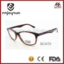 2015 diseño personalizado dama acetato óptico marco gafas