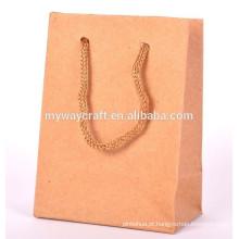 Bolsa de papel kraft para fabricantes de sacos de papel recicláveis de papel kraft