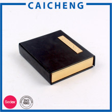 Book shape cardboard packaging box with magnet for gift and jewelry