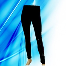 95% Cotton 5% Spandex Lady′s Discharge Print Legging