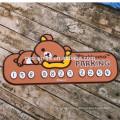 Novo produto temporário estacionamento / telefone número cartão