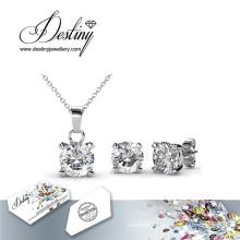 Destiny Jewellery Crystal From Swarovski Crystal Snail Set Pendant and Earrings