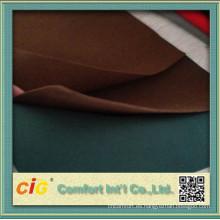 Micro PU cuero tela hecha en China