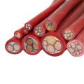 cabo de bateria plana revestida de silicone multicore