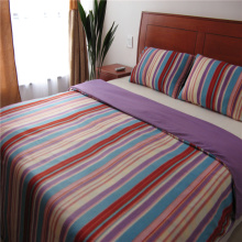 Stripe Printed Polar Fleece Bedding Set