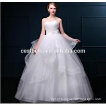 Vestidos de noiva Tulle Vestidos de casamento de organza Vestidos de noiva de renda