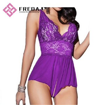Mujeres Sexy Babydoll Ultra sexy ropa de dormir Lace Lingerie
