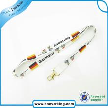 Lanières de sublimation matérielle de polyester avec le logo adapté aux besoins du client