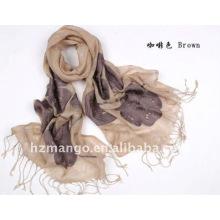 100% lino bufanda bordada de la manera